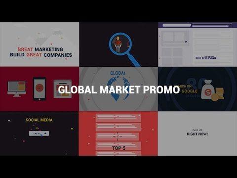 Global Market Promo After Effects Template After Effects - Awesome after effects website template design