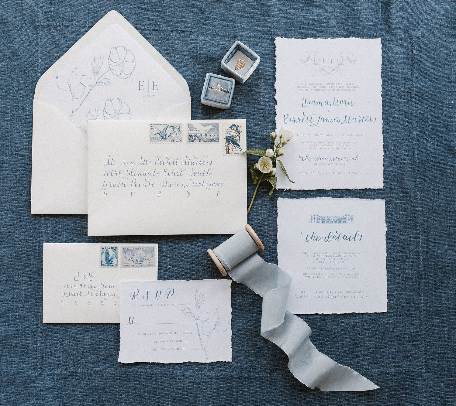 Wedding Invitation Suite Design By Ines Marie Events Calligraphy
