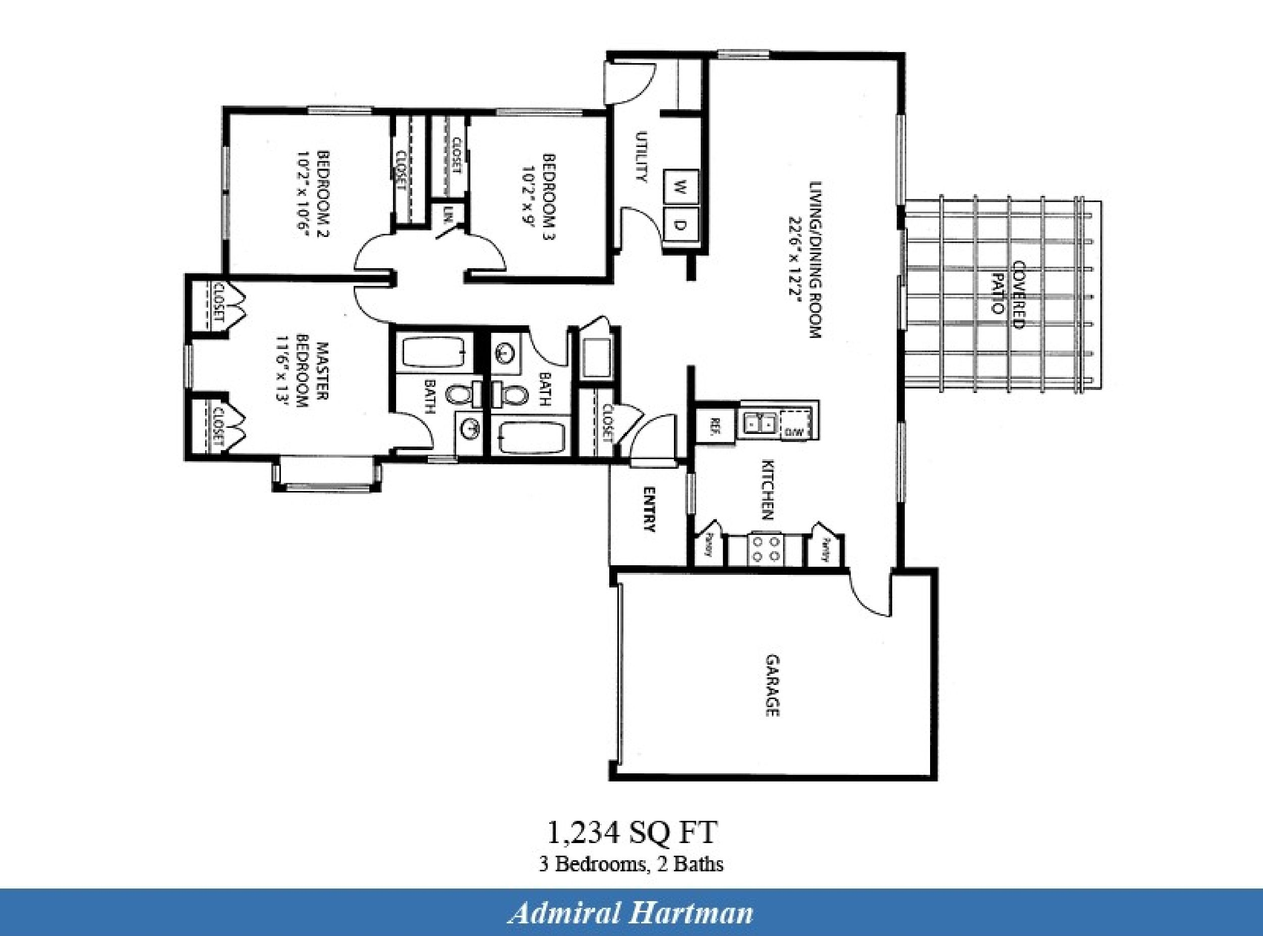 Naval Complex San Diego – Admiral Hartman Neighborhood: 3 bedroom ...