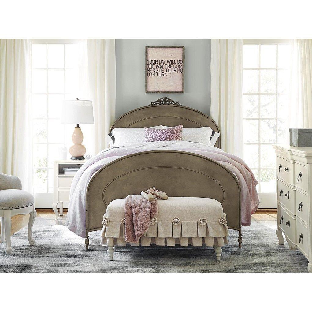 Genevieve Bed Bench Feminine girls room design soft an romantic