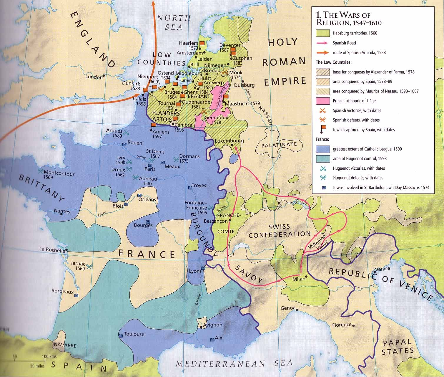 European Wars of Religion 1547 1610