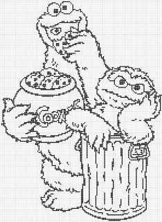 Luvs 2 Knit: Sesame Street Monstro do biscoito gráficos