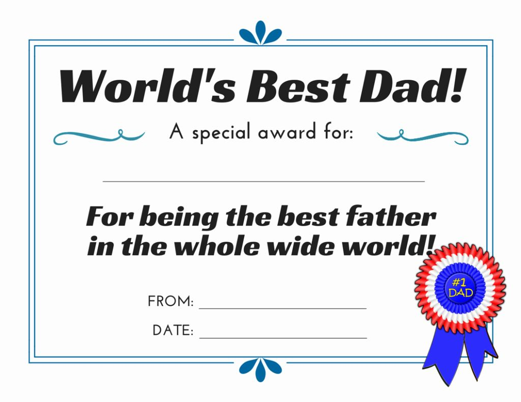 Father Of The Year Certificate Elegant World S Best Dad 3 Free Printable Certificates For Father Worlds Best Dad Father S Day Printable Best Dad Father of the year certificates