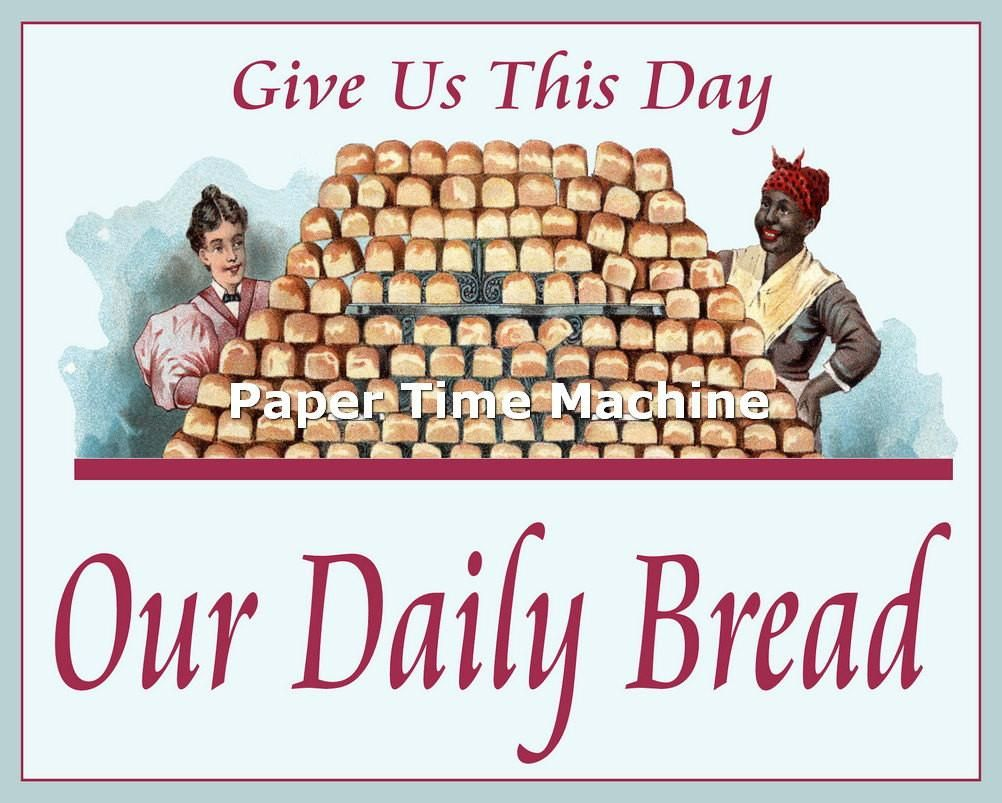 Give us this day our daily bread poster print digitally