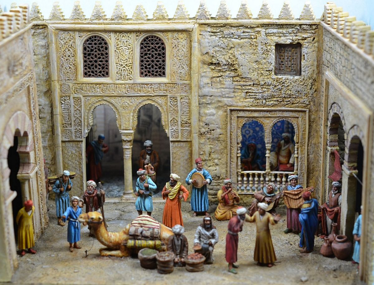 A Realistiv Arabic Street Scenery In 1 72 Scale Scenery Painting Diorama