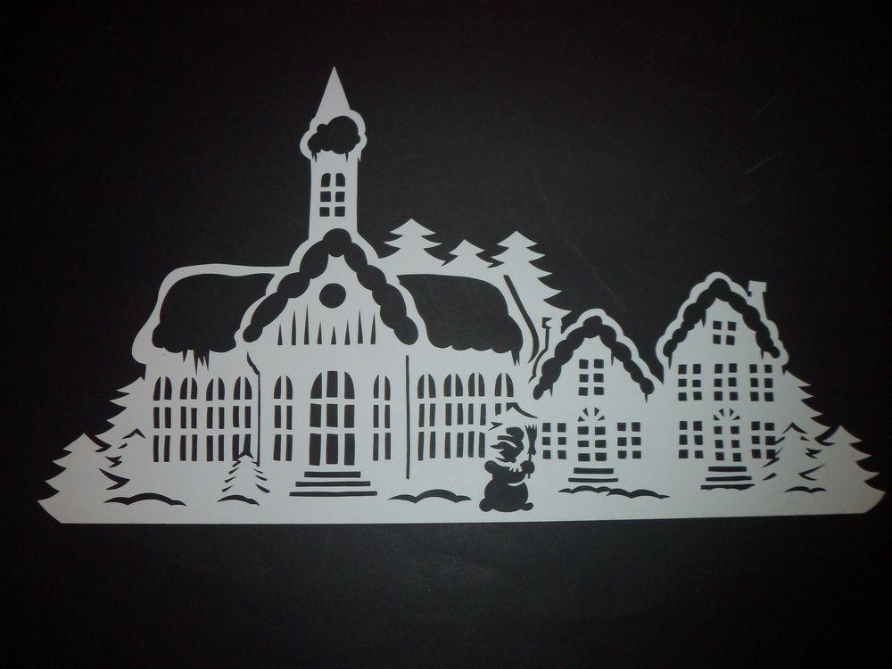 winterstadt filigranes fensterbild aus tonkarton winter. Black Bedroom Furniture Sets. Home Design Ideas