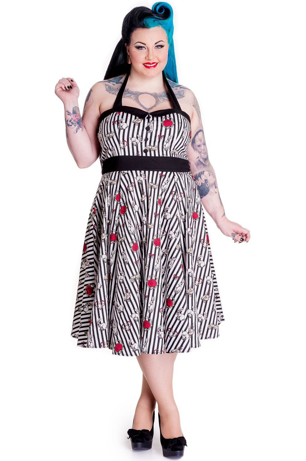 Toto 50s Dress Size By Hell Bunny Beserk Hellbunny
