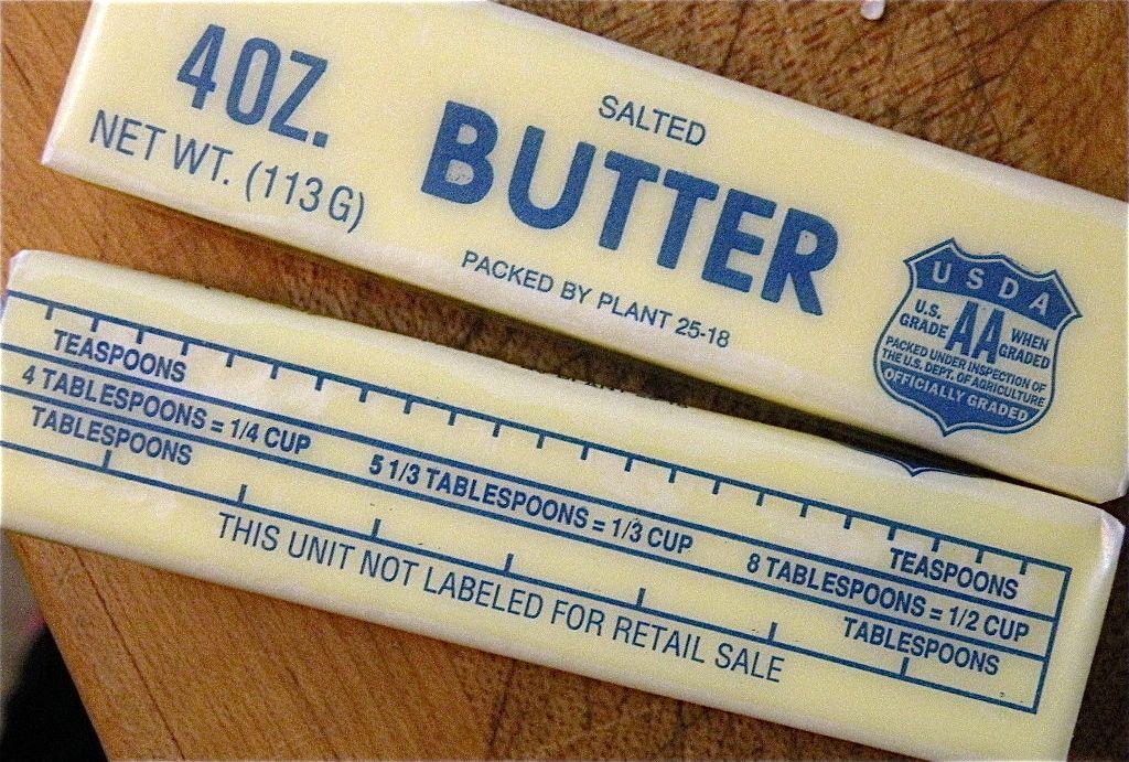 Stick Butter Measurements Butter Measurements Food Drinks Dessert Stick Of Butter