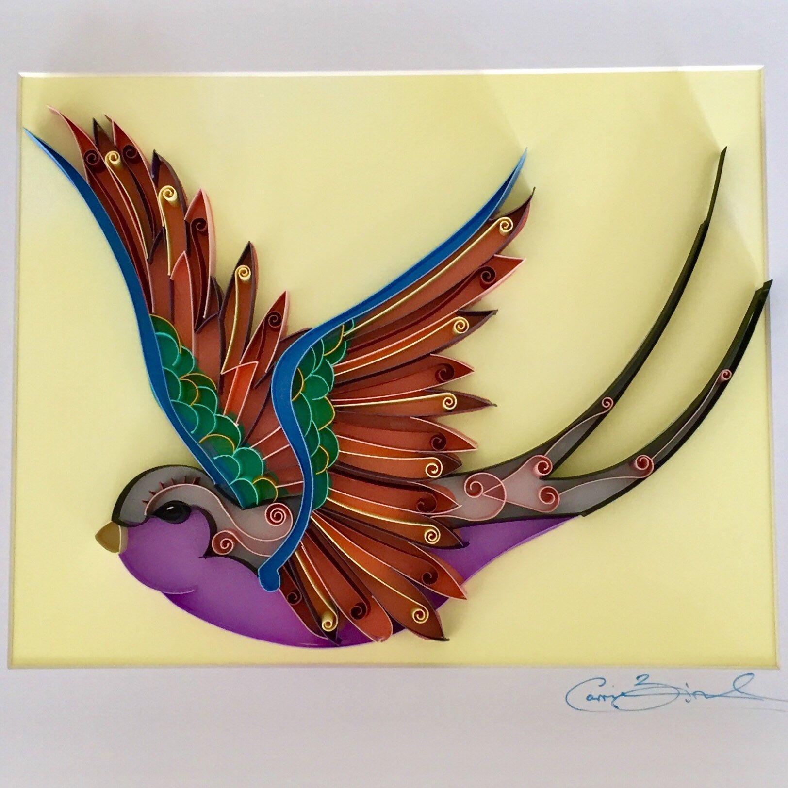 Unique Handmade Paper Art / Quilling Artwork / Bird Artwork ...