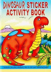 A6 Dinosaur Sticker Book With Dot To Dot Word Searches Puzzles Colouring Pages