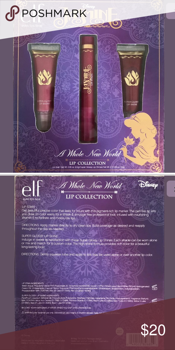 NEW ELF Disney Princess Jasmine Lip Collection NEW E.L.F