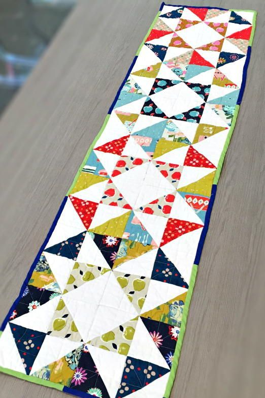 Patchwork Charm Pack Modern Table Runner Free Pattern