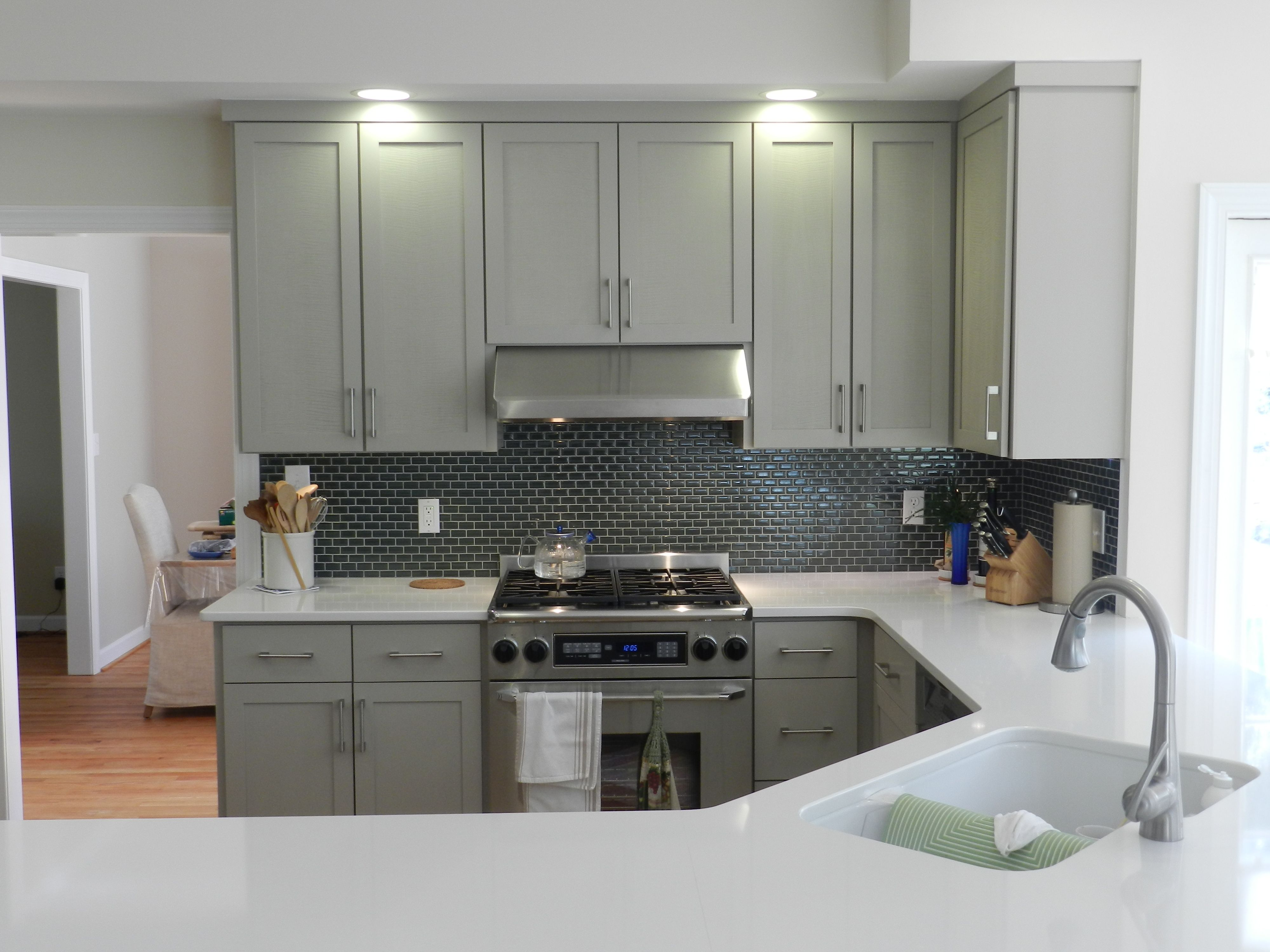 Holiday Kitchens Cabinetry Refacing, Mission Door In Custom Paint; Cambria  Quartz Counters In Whitehall