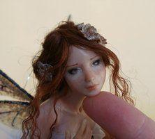 16 Spring Fairy sculpture ooak, 1 inch head by ~HalloWeenPixie on deviantART