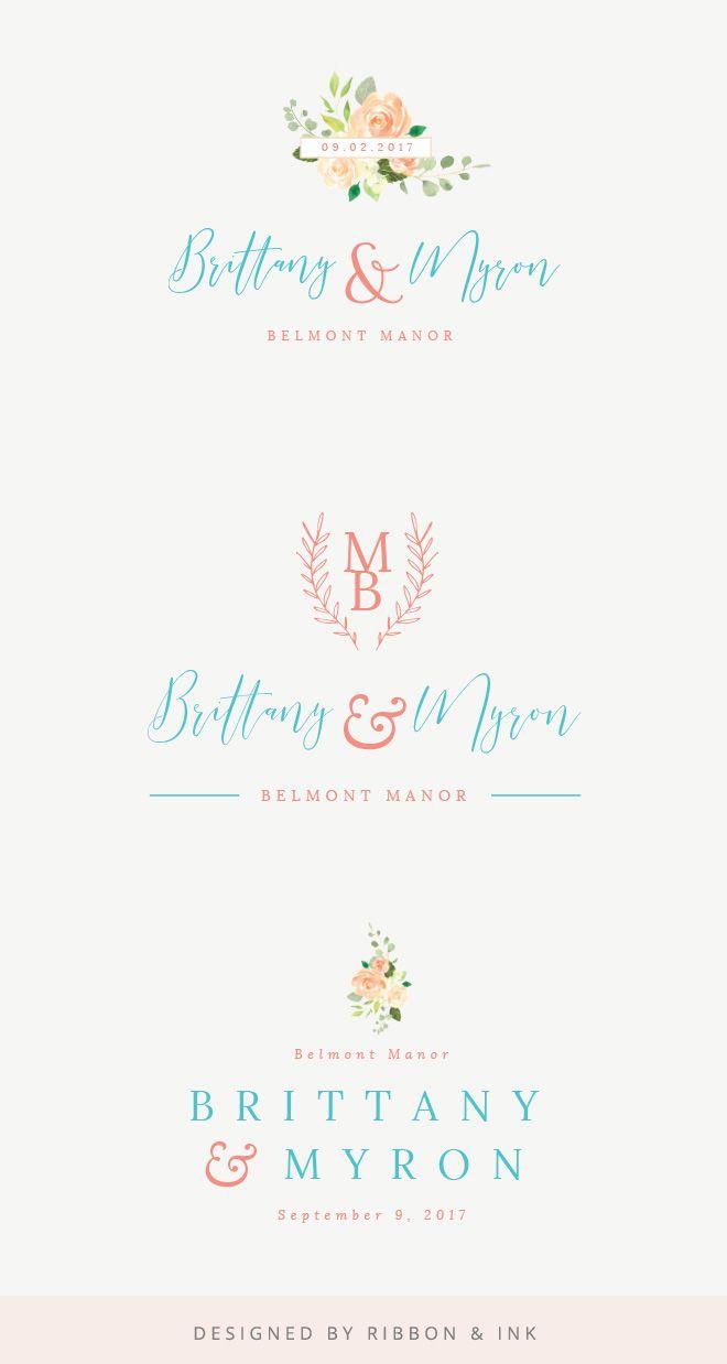 Mood Board Custom Wedding Logo For Maryland Summer Wedding