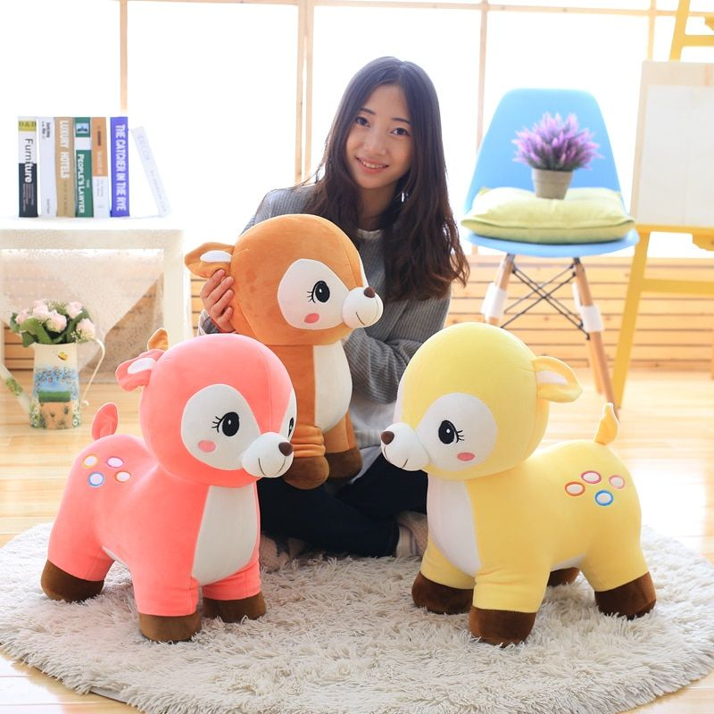 4060cm Cute Super Soft Kawaii Deer Plush baby Toy