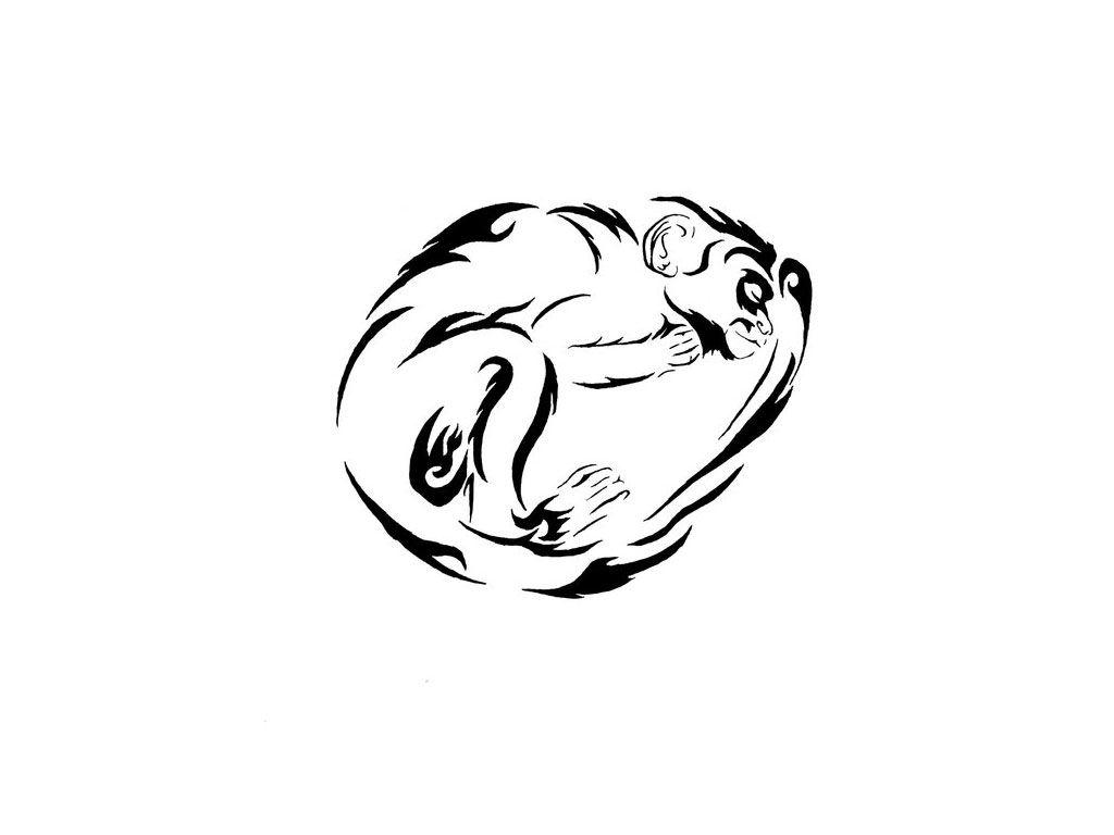 Tribal monkey tattoo design 305 tattoo for b pinterest for Year of the monkey tattoo