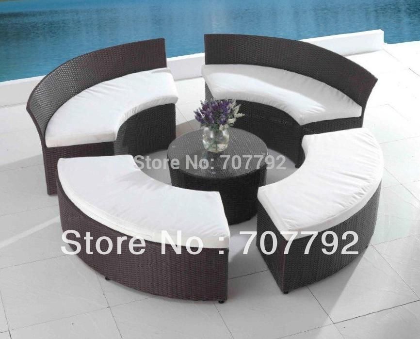 2017 patio seating set outdoor terrace furniture circular patio