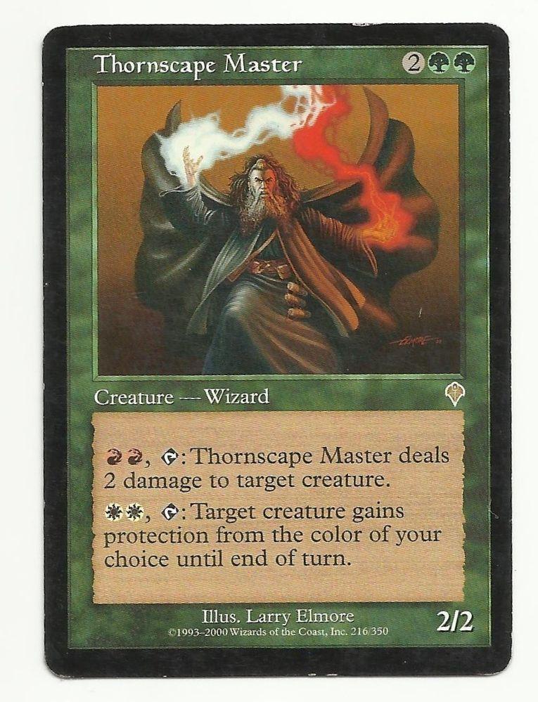 thornscape master x1 mtg mp invasion green wizard creature magic
