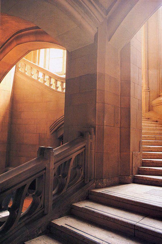 Suzzallo Library Stairwell University Of Washington Seattle
