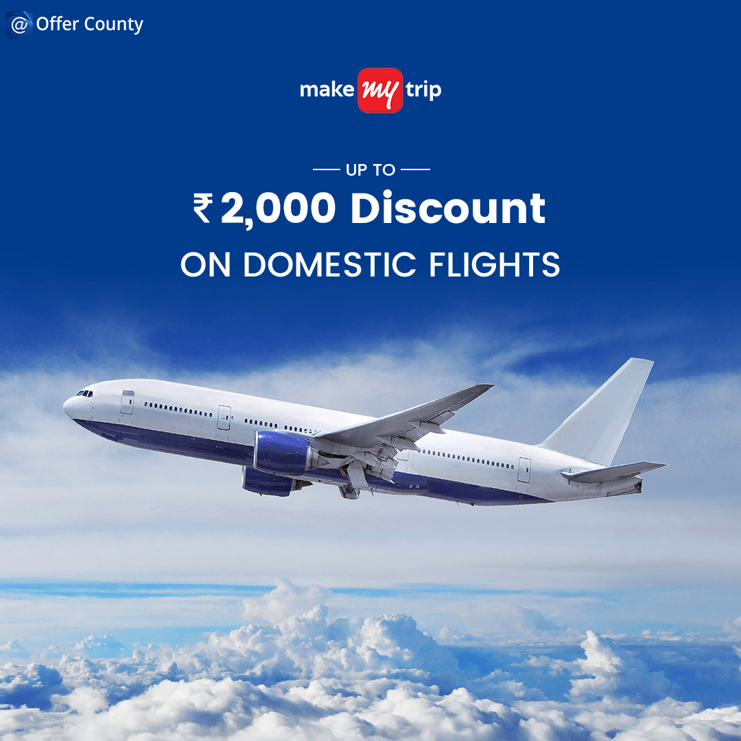 Get up to rs 2000/- discount on #domesticflights via booking from #MakeMyTrip!  #flights #airfaredeals #Deals #airfare #flightdeals #discountoffer #Discounts #discountcode #offers #offercounty #MMT #flights #flightoffers #traveloffers #makemytripindia #travelingram #travelingindia #indiatravel #indiatravelgram #indiatripping #indiatrip2019