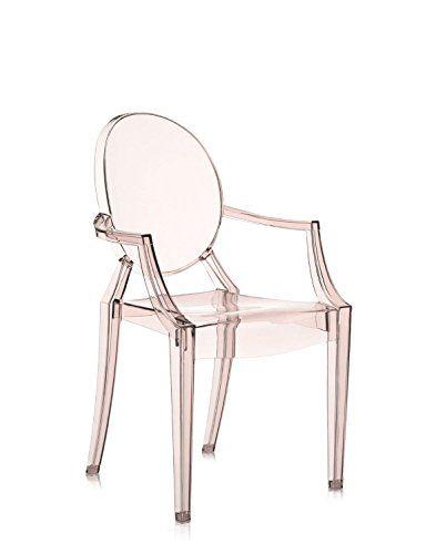 Kartell Louis Ghost Chair   Transparent Sunset Orange
