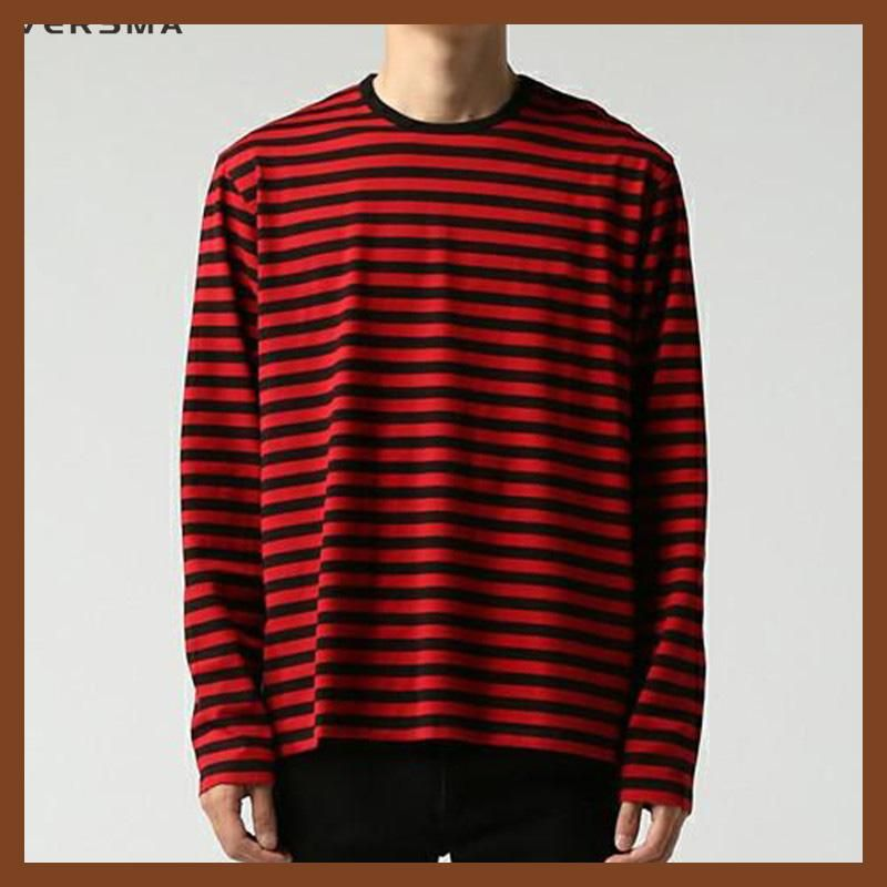 Versma Bts Kpop Korean Harajuku Gd Black White Striped T Shirt Men