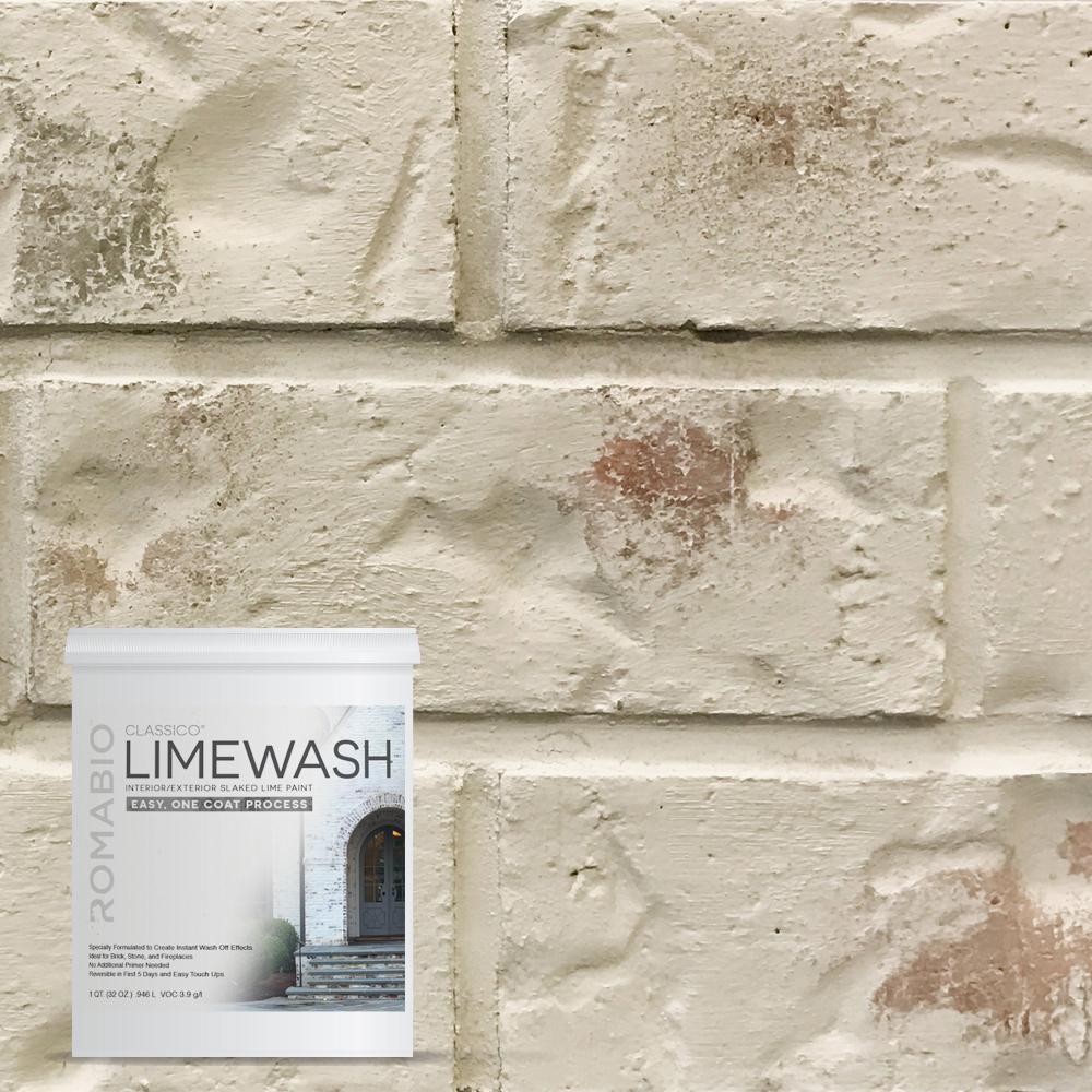 Peinture Pour Brique Extérieur romabio 1 qt. riposo beige limewash interior/exterior paint