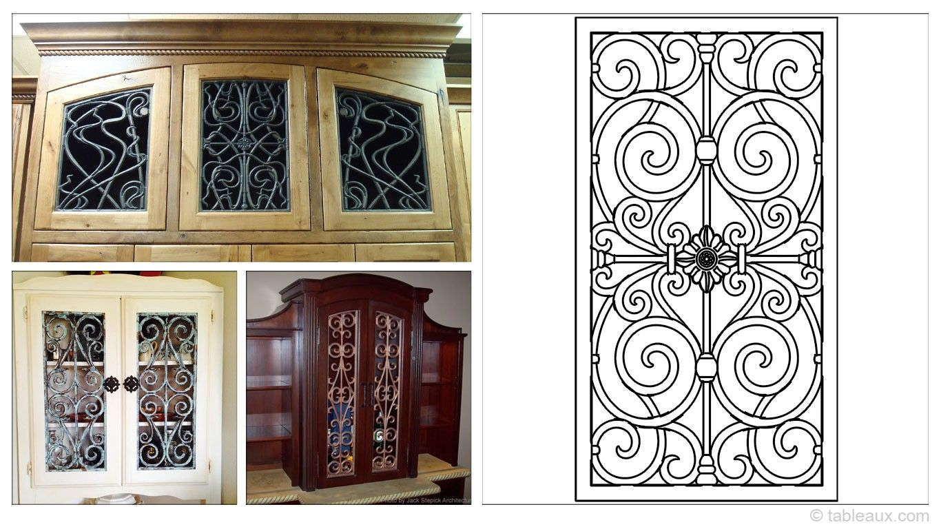 Tableaux Faux Iron Cabinet Door Inserts Are Sustainable