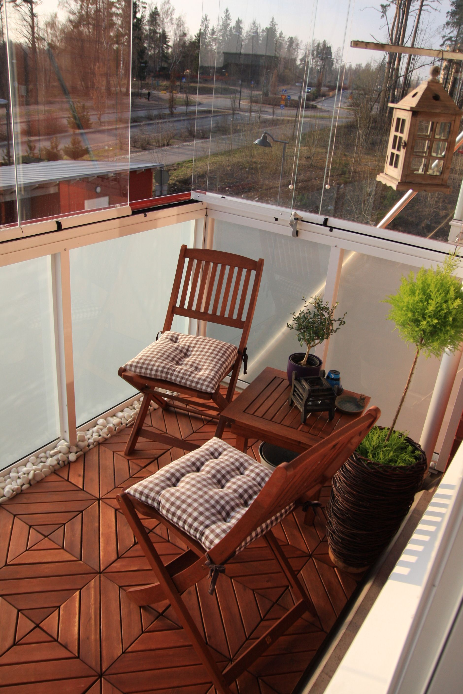 Balcony Floor Idea Small Stones On The Edge