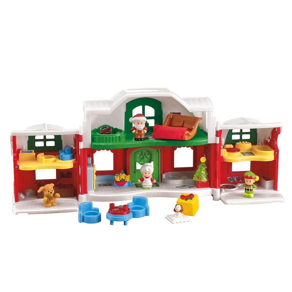 New Little People Christmas Santa S North Pole Cottage House Playset