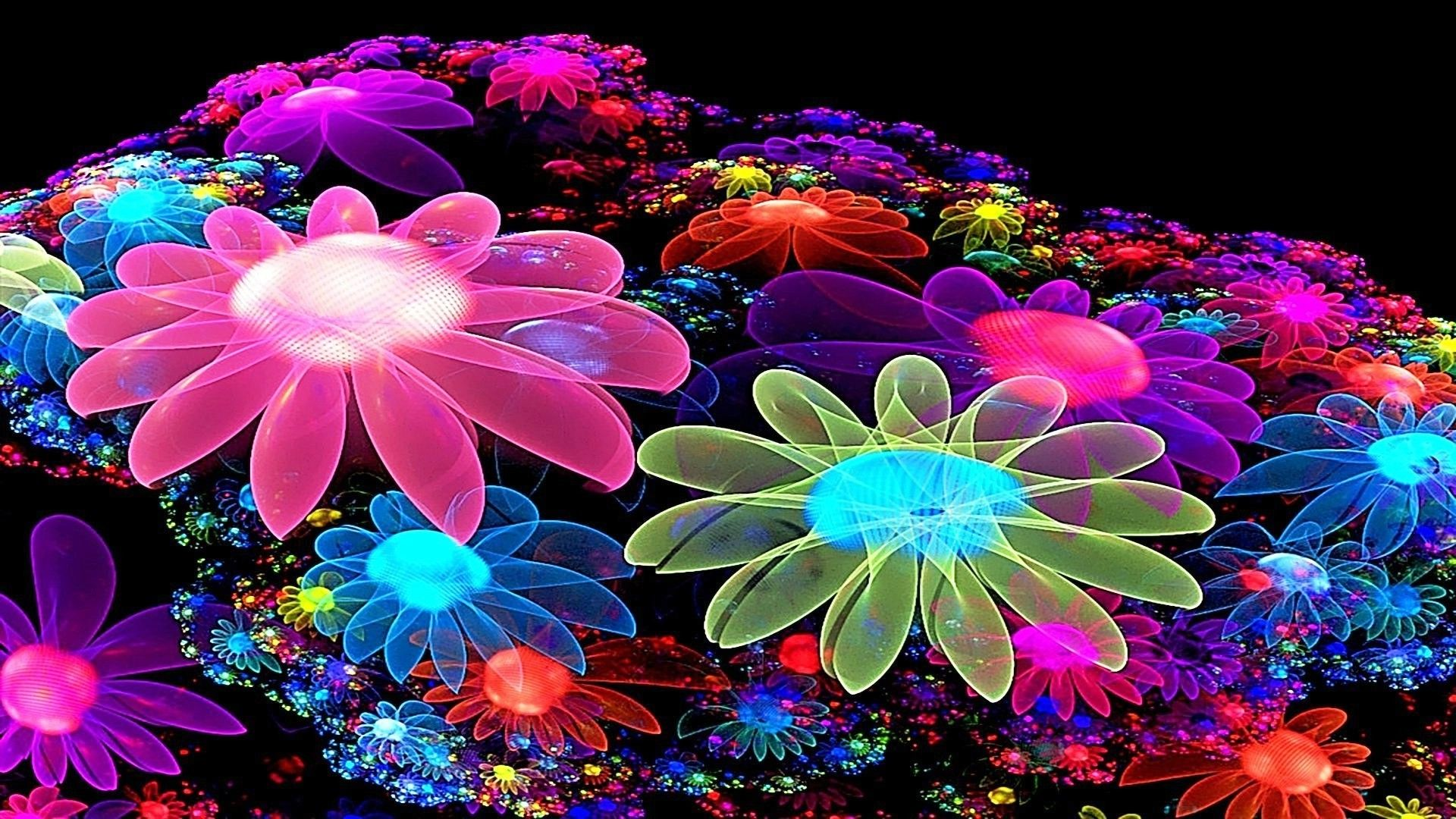 Colorful Flower Wallpaper 3D