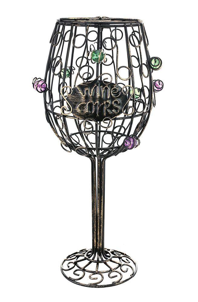Wine Glass Cork Cage Holder Bottle Decor Bar Metal Kitchen Storage Home Gift New #Kovot