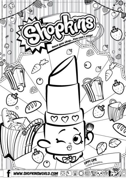 Made By A Princess Shopkins Free Downloads Shopkins Colouring Pages