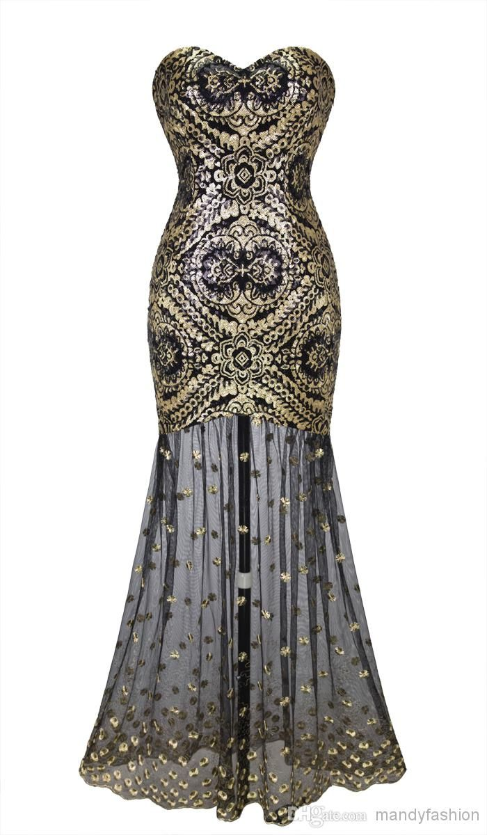 Vintage 1920s Pink Sequin Gatsby Mermaid Flapper Long Dress Party Evening Dress