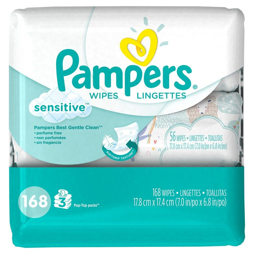 Pampers Baby Wipes Sensitive 168ct