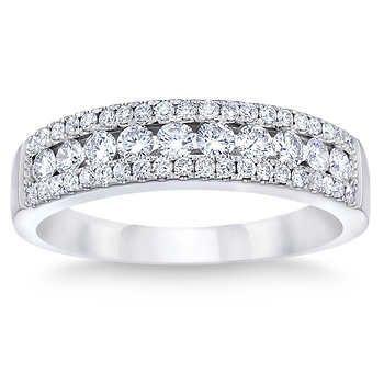 24d8494c9ea30 Round Brilliant 0.50 ctw VS2 Clarity, I Color Diamond 14kt White ...