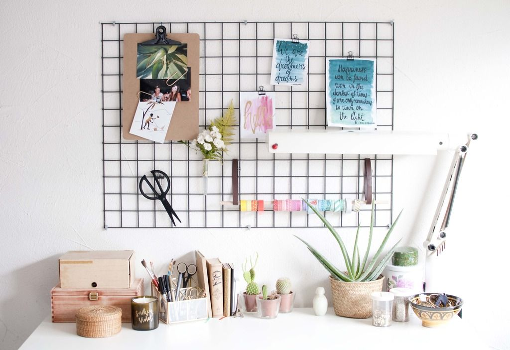 Diy Wall Grid Organisation Home Sweet Home In 2019 Diy
