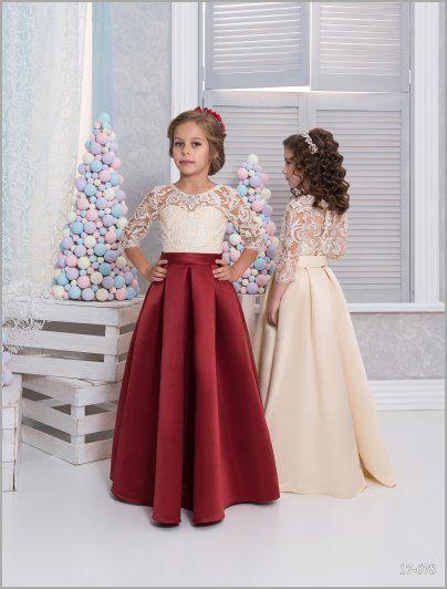 Выкройка для детского нарядного платья 138