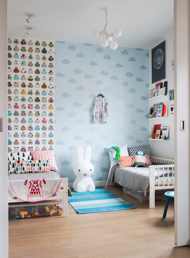 gorgeous childrens bedroom especially love the miffy lamp ladnebebe in creative childrens spaces by ashlyn gibson reviewed on little green shed: zones bedroom wallpaper