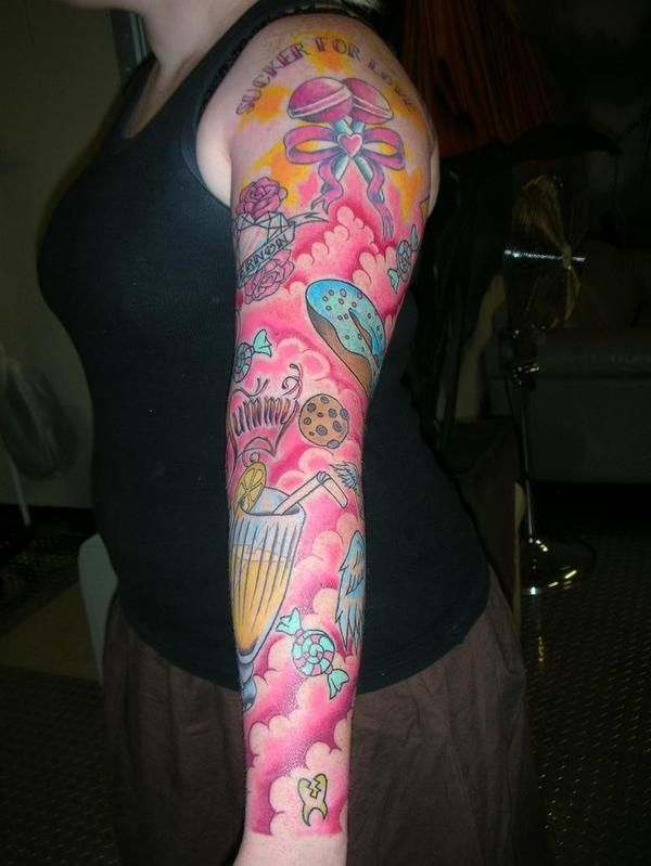 Love This Background Candy Tattoo Cupcake Tattoos Tattoos