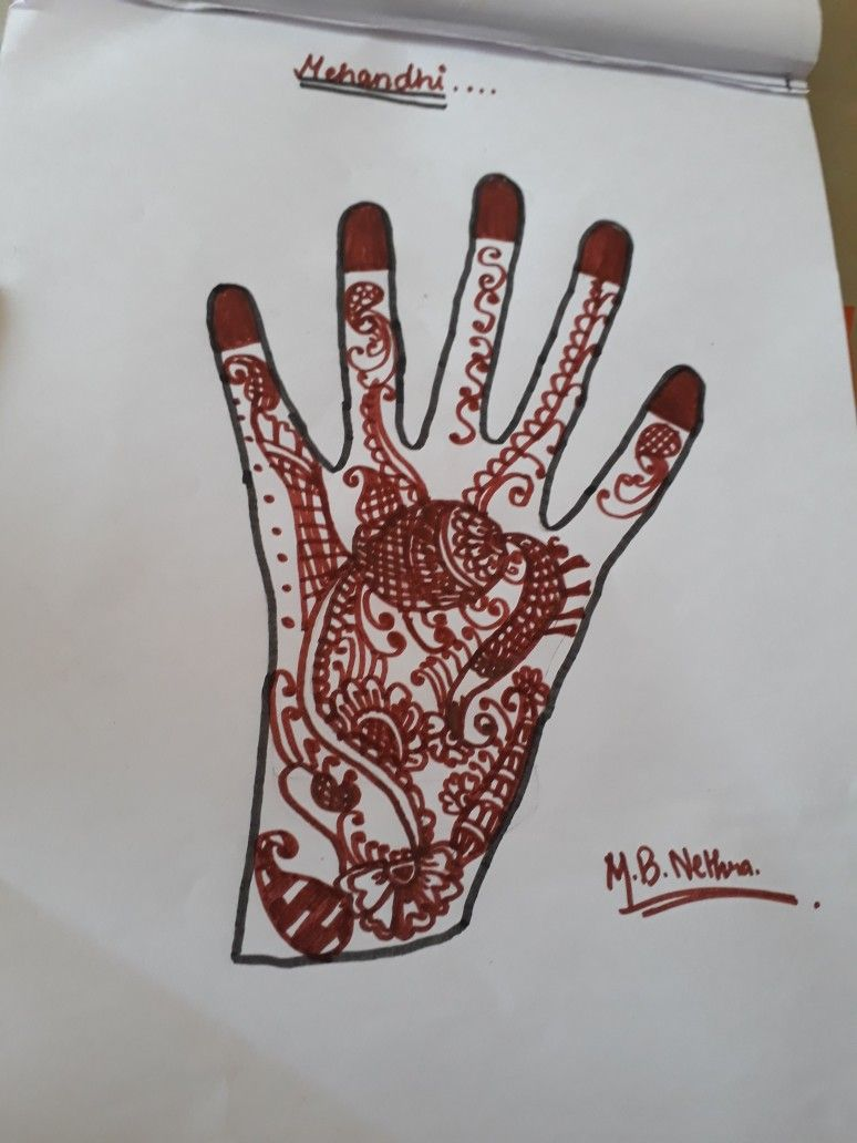 Pin By Oooppp On زخرفات ملونه Hand Henna Hand Tattoos Henna Hand Tattoo