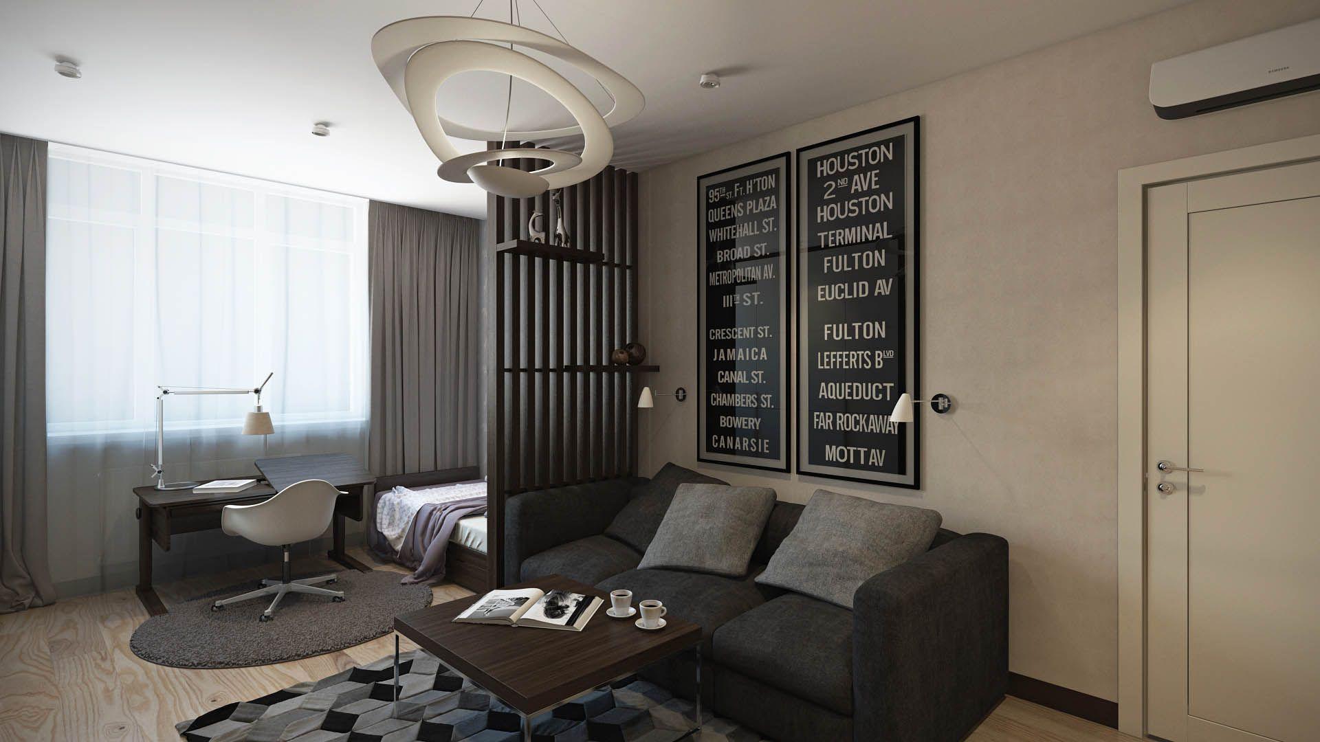 интерьер 1 комнатной квартиры хрущевки фото | Интерьер