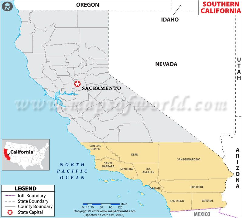 Map of Southern California showing the counties. | Maps (mostly old ...