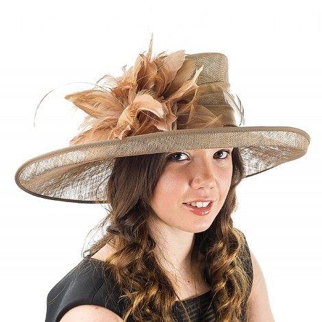 Gold Fascinators Hats Wedding Guest