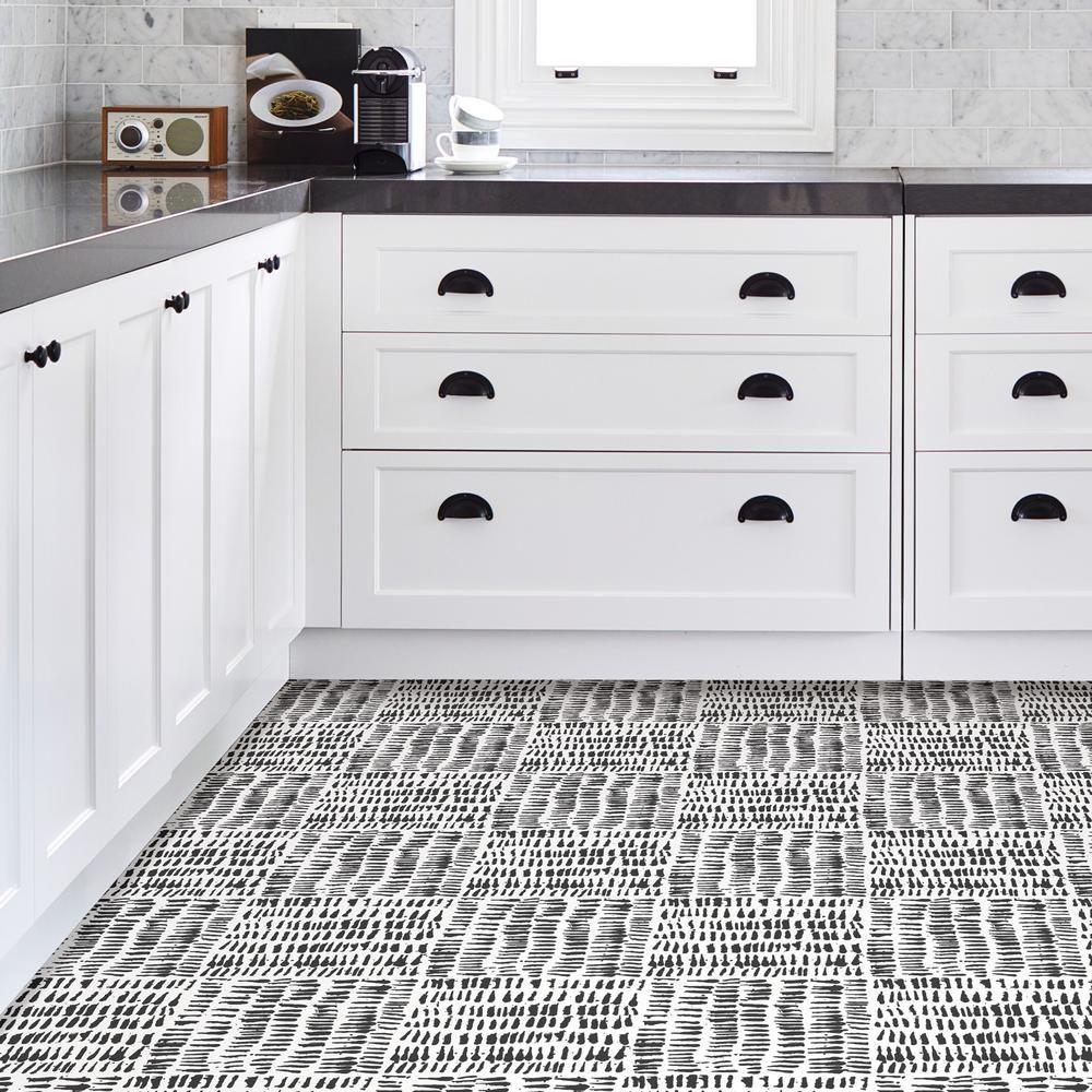Floorpops Noleby Peel And Stick Floor Tiles 12 In X 12 In 20 Tiles 20 Sq Ft Tfp2945 The Home Depot Self Adhesive Floor Tiles Adhesive Floor Tiles Peel And Stick Floor