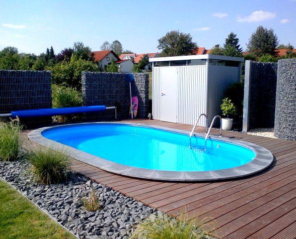der eigene pool im garten sorgt auch zu hause f r das richtige urlaubsflair pool oval. Black Bedroom Furniture Sets. Home Design Ideas