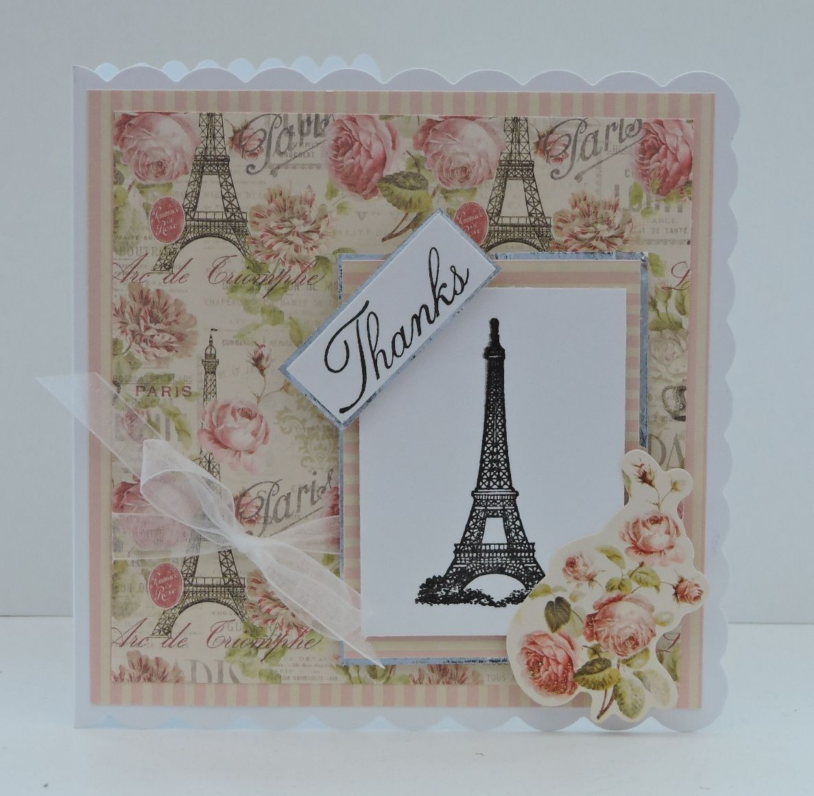 Dovecraft Sweet Paris Handmade card Inspire Creationz