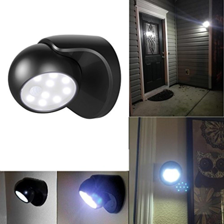 Goeswell battery powered motion sensor light with black shell light
