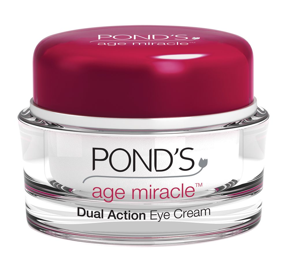 Rouge Beauty We Love The Ponds Age Miracle Dual Action Eye Cream It Has 2 Chambers Inside Pink Works On Wrinkles And White